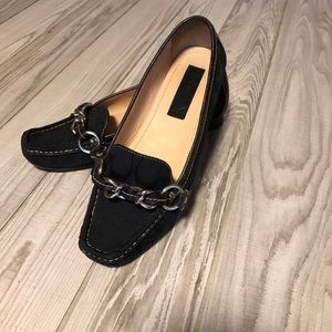 Coach black flats loafers